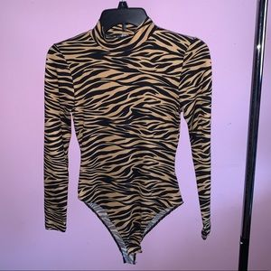 Tiger striped body suit